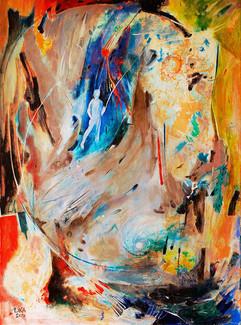 My mind / Acrylic on canvas / 90 x 65 cm / 2017
