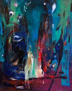 Green dream / Oil on Canvas / 100 x 80 cm / 2019