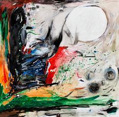 Un sueño blanco / Mixed Media on canvas / 150 x 150cm / 2019