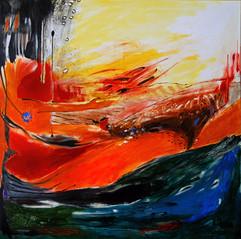 Wish / Mixed Media on canvas / 100 x 100 cm / 2016