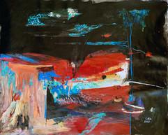 Alegría de noche / Mixed Media on canvas / 65 x 80 cm / 2020