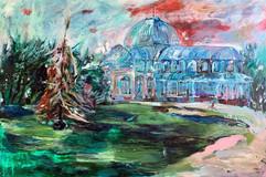 Crystal Palace / Mixed Media on Canvas / 97 x 146 cm / 2019