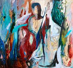 Life Essence / Mixed Media on Plywood / 115 x 123 cm / 2019