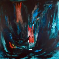 Sueños de ayer / Mixed Media on Canvas / 150 x 150 cm / 2019