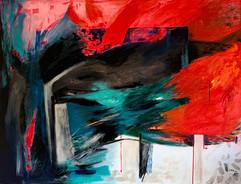 Muros contra el infinito / 89 x 116 cm / Mixed Media on canvas / 2020