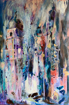 Madrid VI / Mixed Media on canvas / 120 x 80 cm / 2020