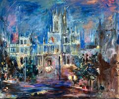 Madrid / Mixed Media on canvas / 45 x 55 cm / 2019