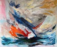 J'aime Chagall / Mixed Media on Canvas / 100 x 120 cm / 2020