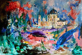 Palacio Real / Mixed Media on canvas / 100 x 150 cm / 2020