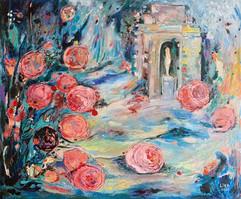 Amor en Florencia / Mixed Media on canvas / 50 x 60 cm / 2020 (Private Collection Georgia Tbilisi)