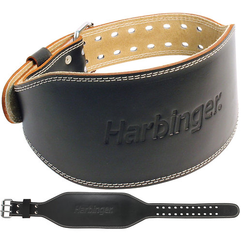 "Harbinger | 6"" Padded Leather Belt"