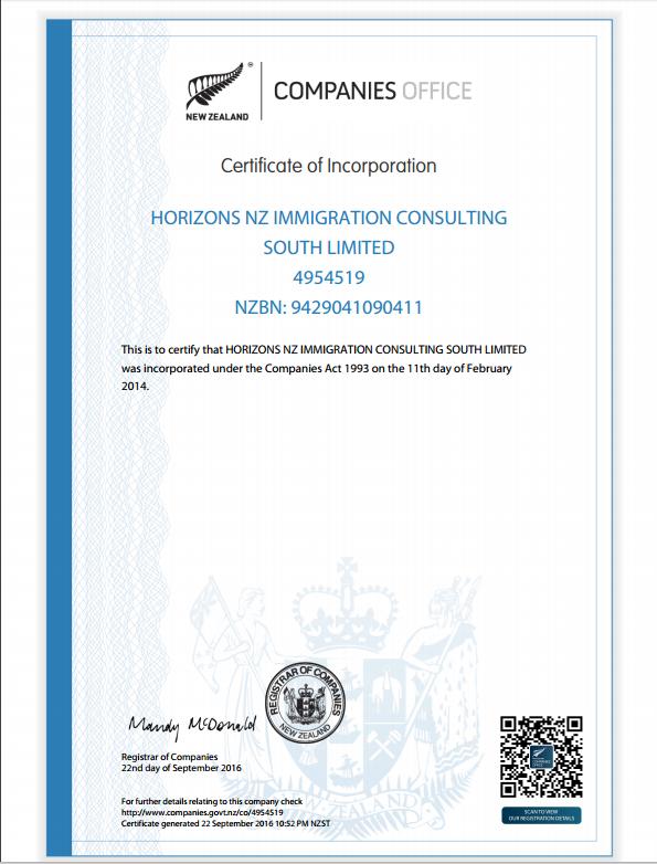Certificate Of Registration - Christ