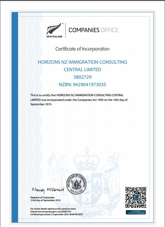 Certificate Of Incorporation - Cbd,