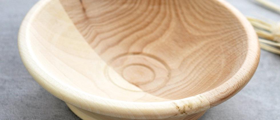 gedrechselte Holzschale Esche / Rotbuche