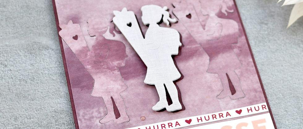 1. Klasse Mädchen Karte zur Einschulung