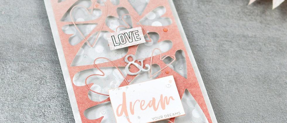"Herzige Karte ""Love & dream your dreams"""