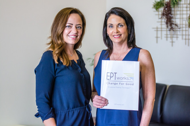 Dr. Hartwell of Sacred Spines Chiropractic and Jolisa are both EPT™ practitioners.