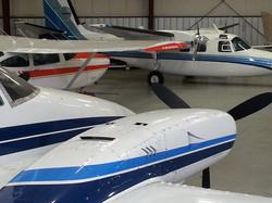 Hangar storage at Sandpiper Air