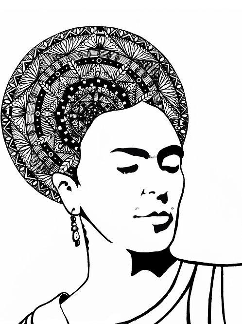 """Mandala Head Series"" Large Piece 16'' X 20''"