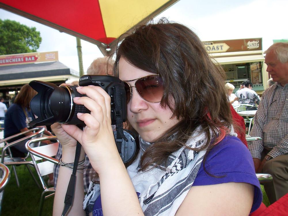 Lauren holding a camera in 2007
