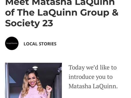 Voyage Houston features Society 23 founder, Matasha LaQuinn