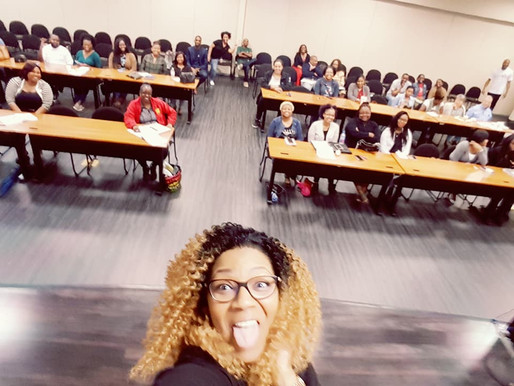 "Teaching the ""Game of Monopoly""  Real Estate investing class for the Delta Sigma Theta Hou"