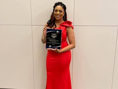 "Matasha LaQuinn awarded ""Top 20 Houston Black Real  Estate Professional"" award."