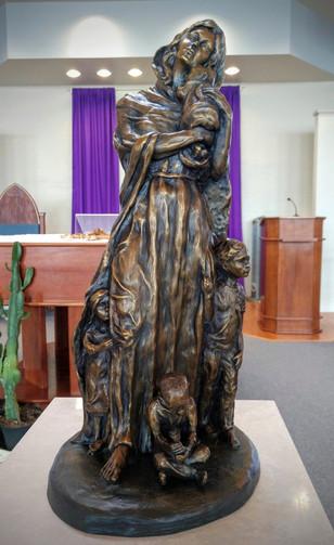 18'' full bronze figure