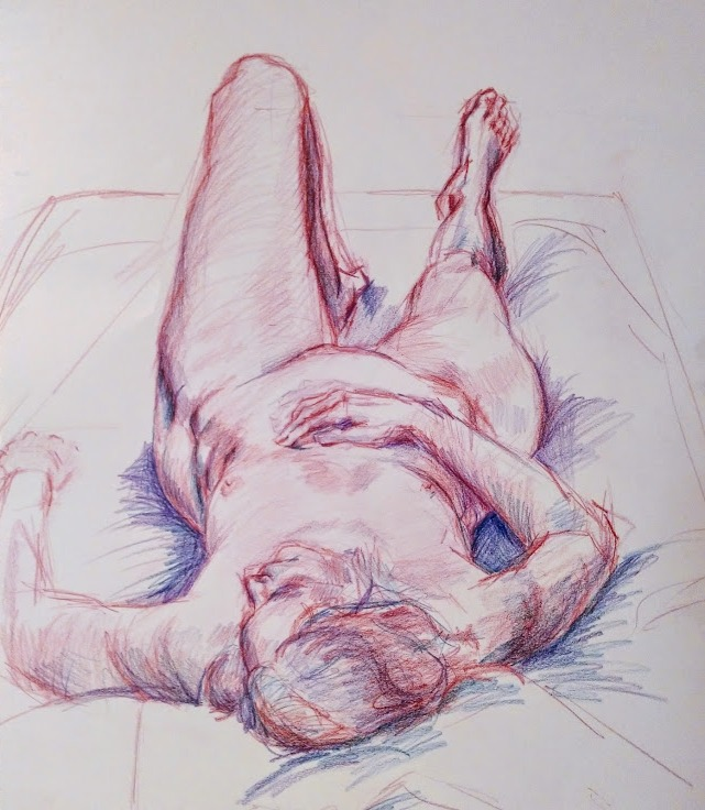 colored pencil on paper
