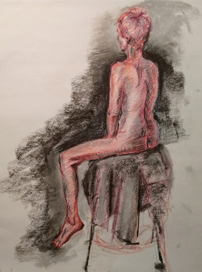 colored pencil and nupastel