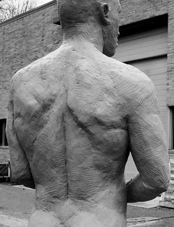 life size stoneware clay figure