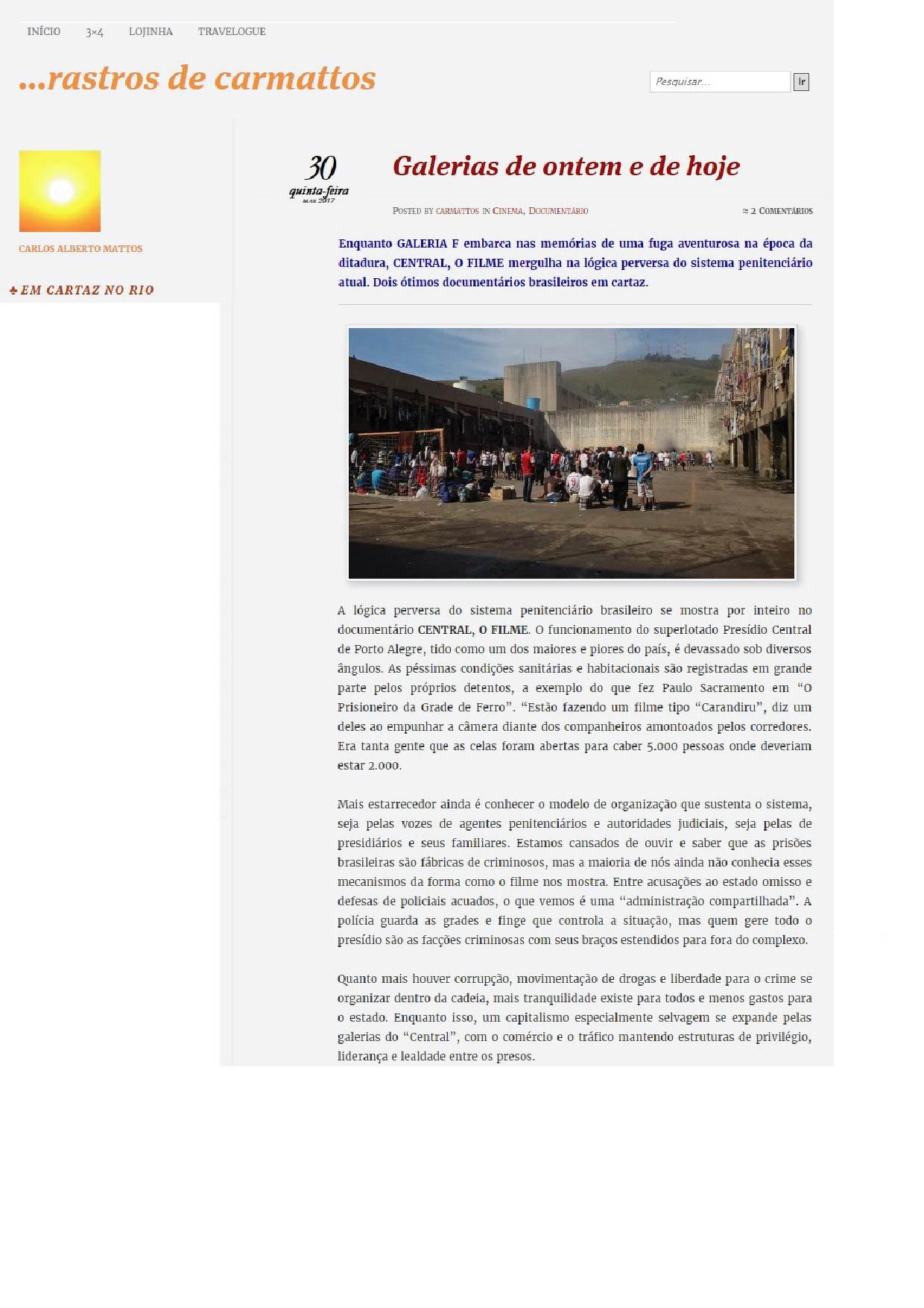 Crítica Carlos Mattos | 30.0