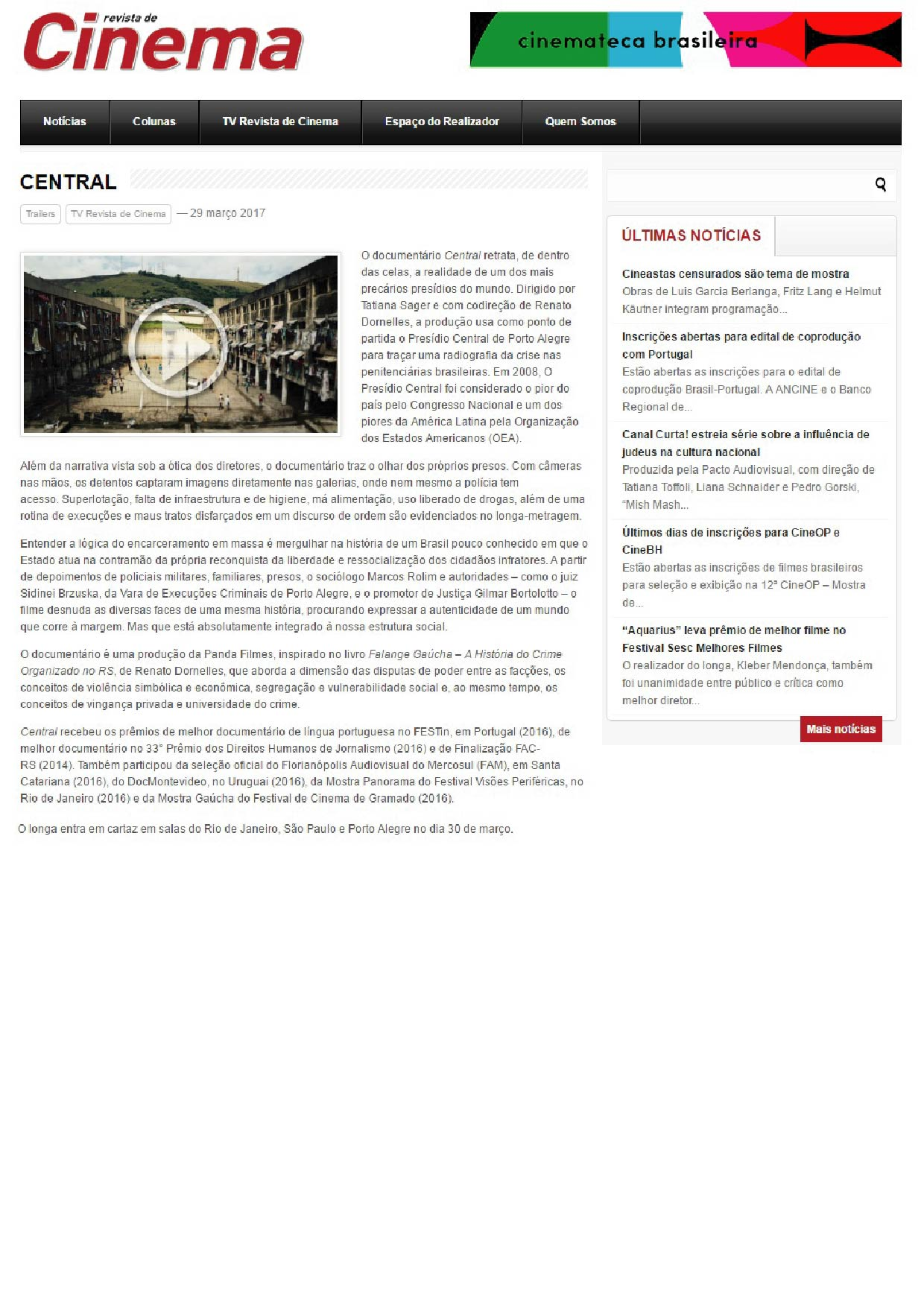 Revista de Cinema |29.03