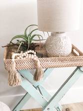 It's All in the Details! Vintage Luggage Rack Tray Table
