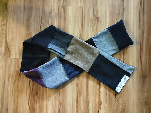 Wool Multi-colored Patchwork  scarf