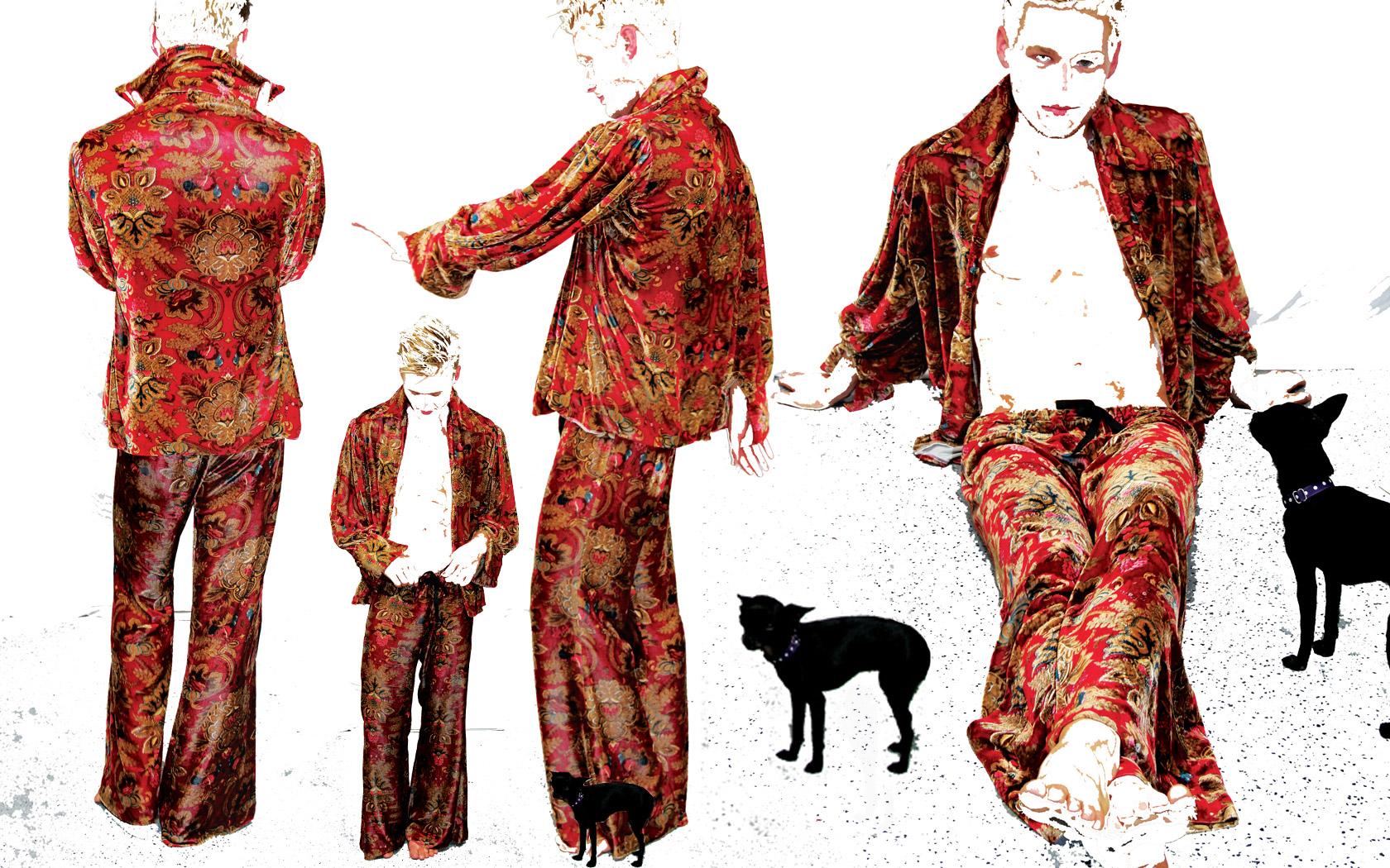 Custom Velvet Shirt & Pants
