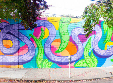 "Oakland Mural – ""Airmid"" the Goddess of healing through Herbalism"