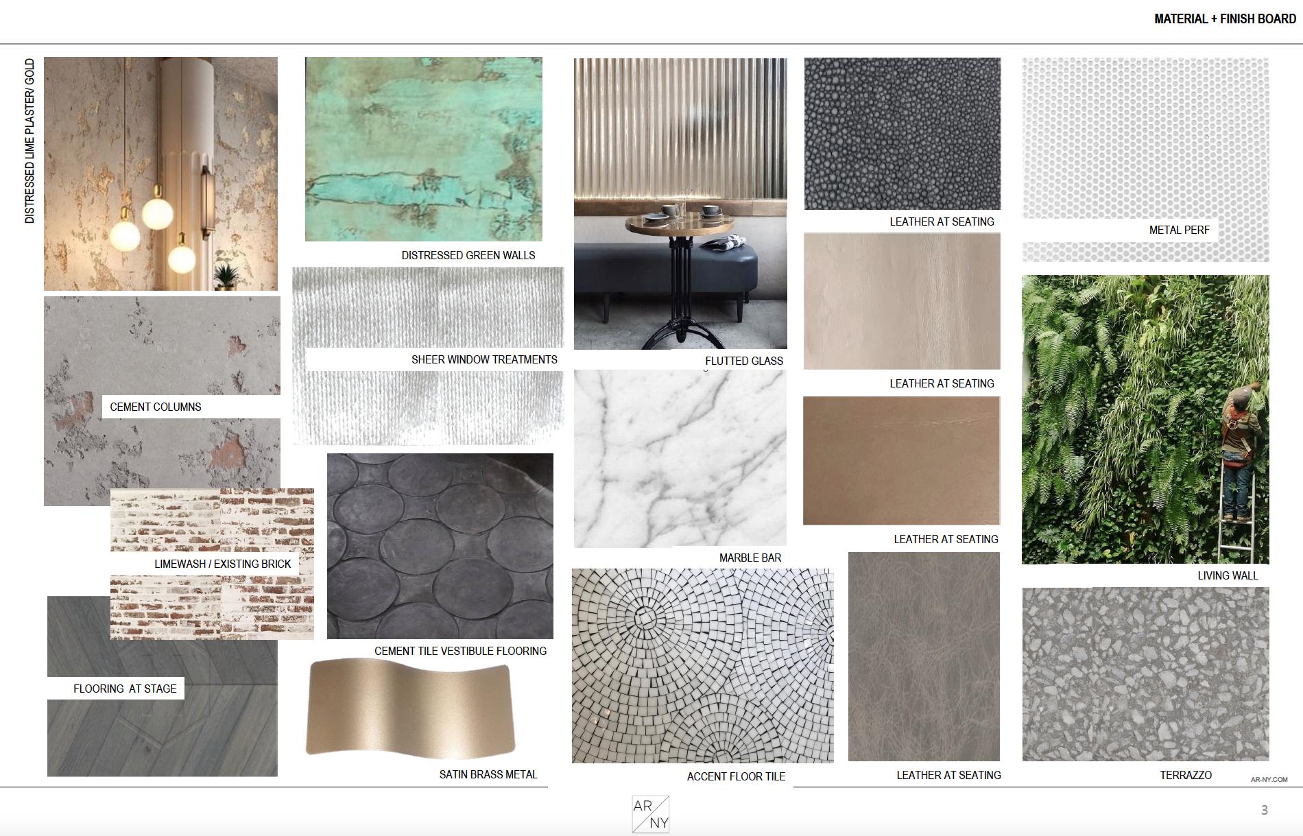 Aura Cocina & Bar_Materials