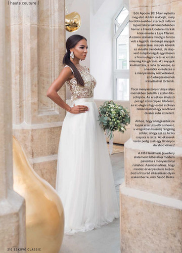Leya Marini presents a beautiful bridal collection where all our tops and skirts are separate, which gives brides the unique opportunity and freedom to create a match that reflects best their own personality and style. Designer bridal gown, modern, elegant, stunning made to measure wedding dresses.