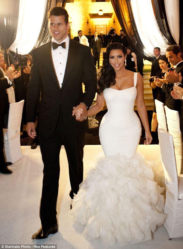 Kim Kardashians Wedding Dresses