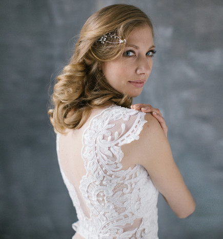 bridal bodice top, ivory tulle and ivory lace, separate top, made to measure wedding dress top