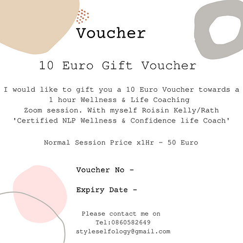Style Selfology Self Care 10 Euro Voucher (Towards coaching session)