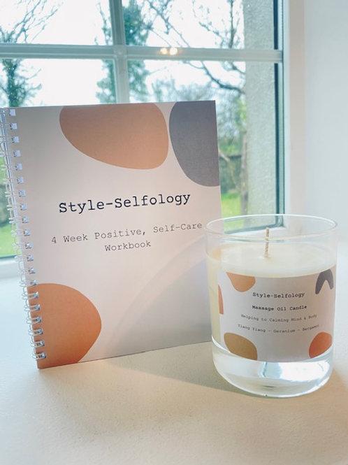 Style Selfology 4 Week Positive Self Care Book & Candle