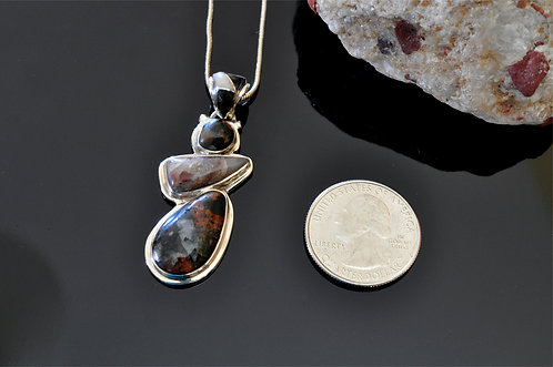 Puddingstone Pendant-J8478