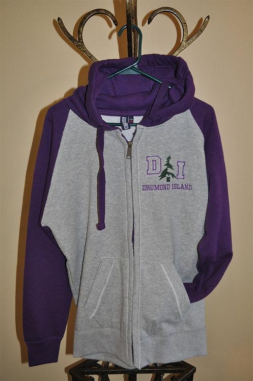 Full zip, two toned hoodie-306