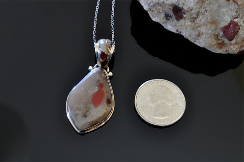 Puddingstone Pendant-J7627