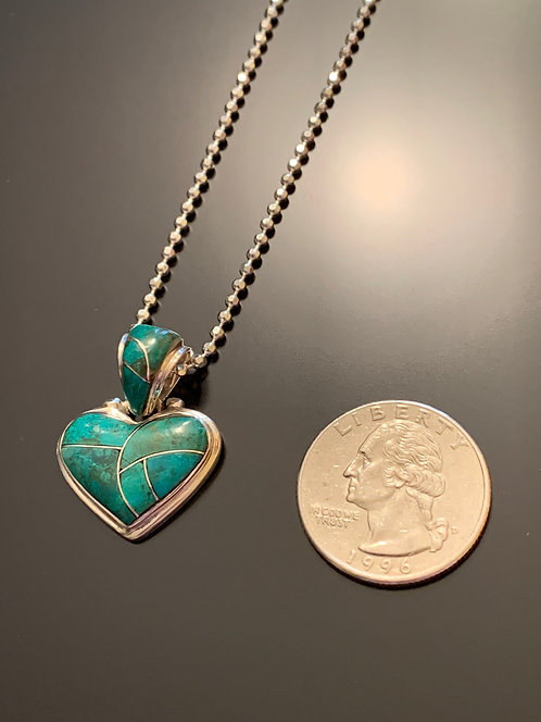 Chysocolla Heart -Pendant