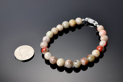 Puddingstone Pearl Bracelet