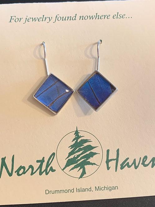 Blue Morpho Butterfly Earrings #9