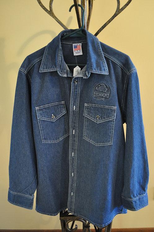 Denim shirt/jacket with embossed design- AB510